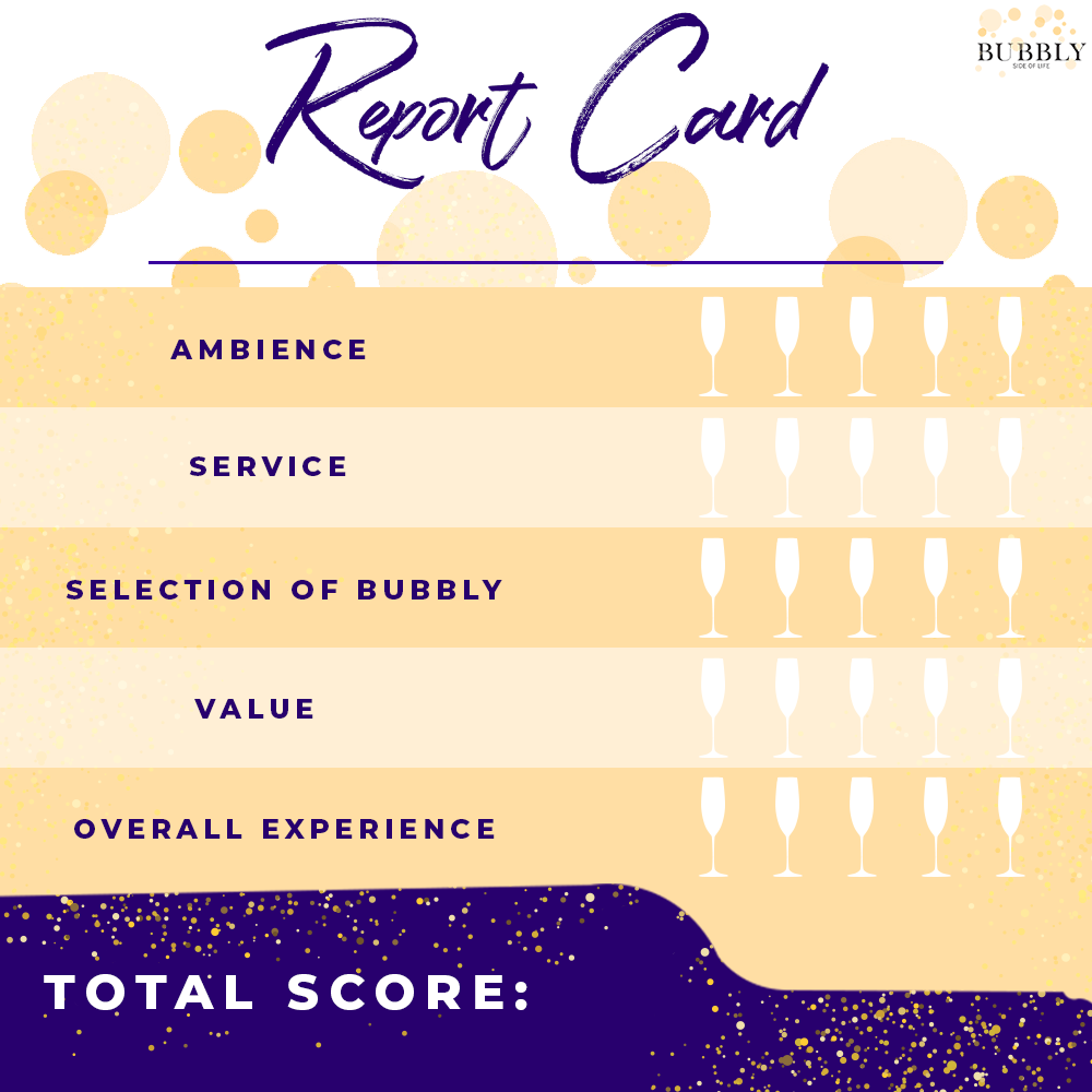 Bubbly Side of Life Winery Review report card