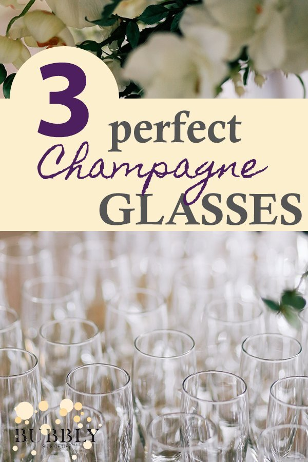 3 perfect champagne glasses