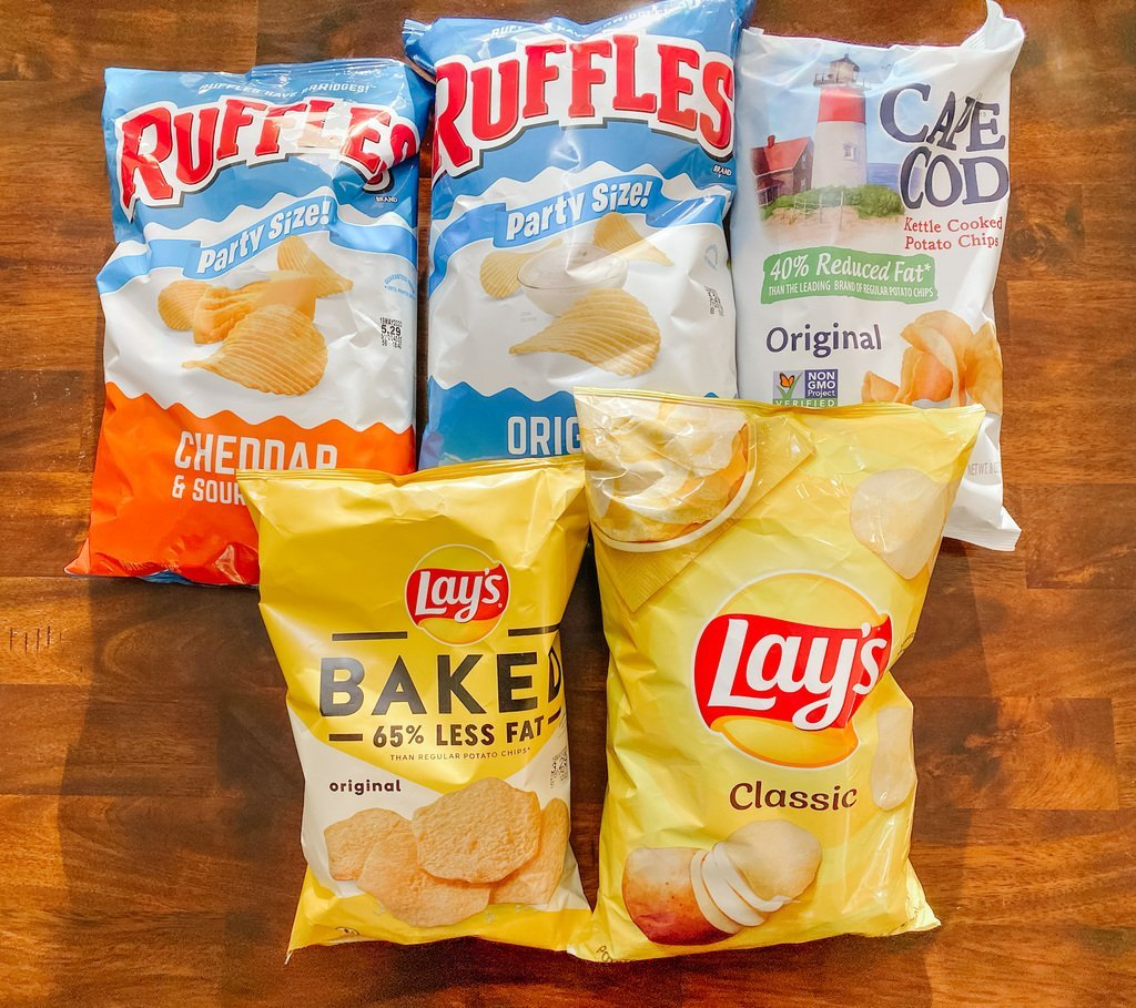 Chips for our Champagne Pairing Taste Test