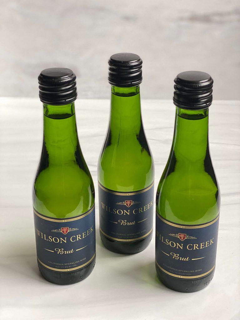 Wilson Creek Brut mini sparkling wine bottles