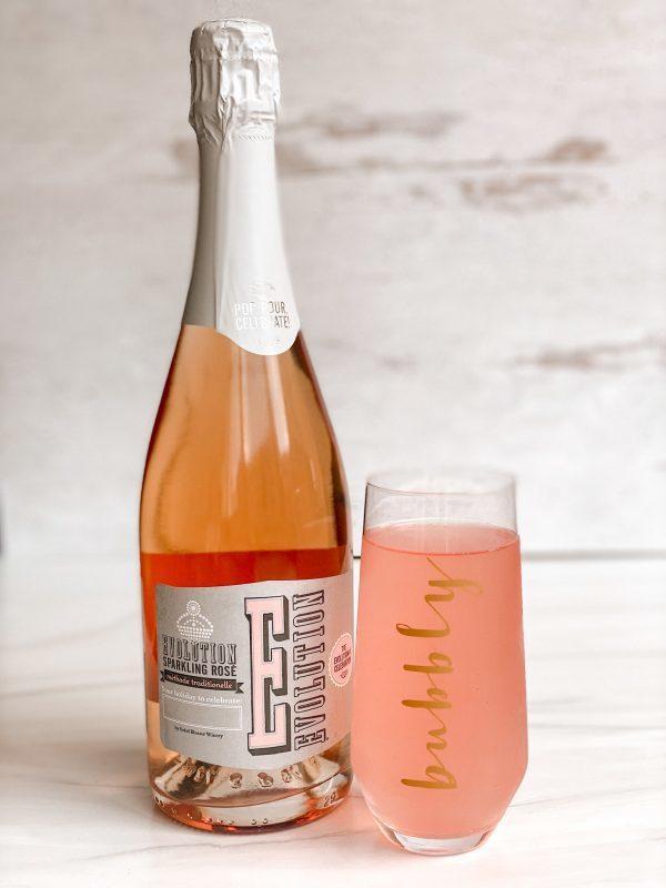 Sparkling rosé cocktails