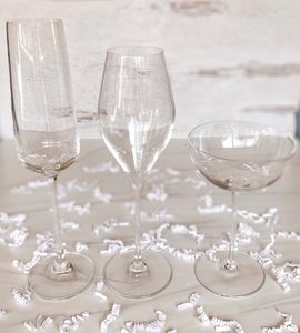 Champagne glasses including the Champagne flute, champagne coupe and Champagne tulip