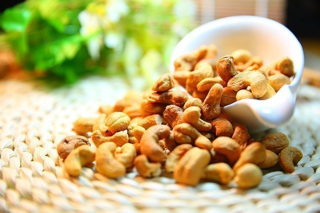 The perfect salty snack: peanuts, cashews, almonds