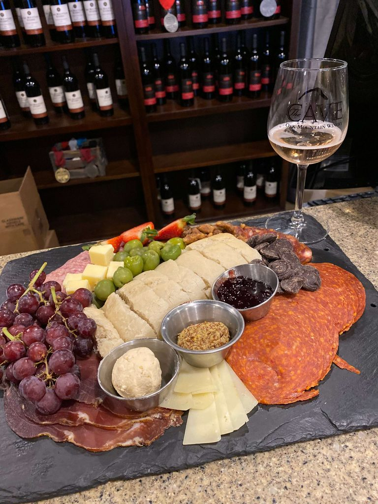 Oak Mountain Winery charcuterie tray