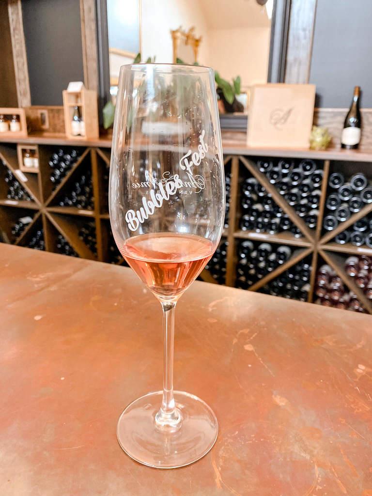 Sparkling rosé at Bubbles Fest in Oregon