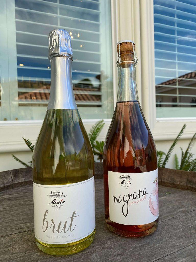 Masía de la Vinya sparkling wine, a brut and magrana.