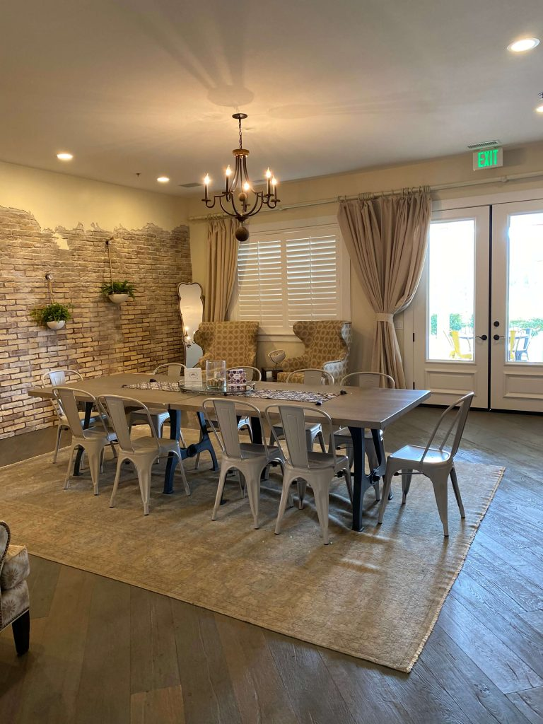 Inside Masía de la Vinya-rooms for rent for your next bridal shower, baby shower, birthday party or private tasting.