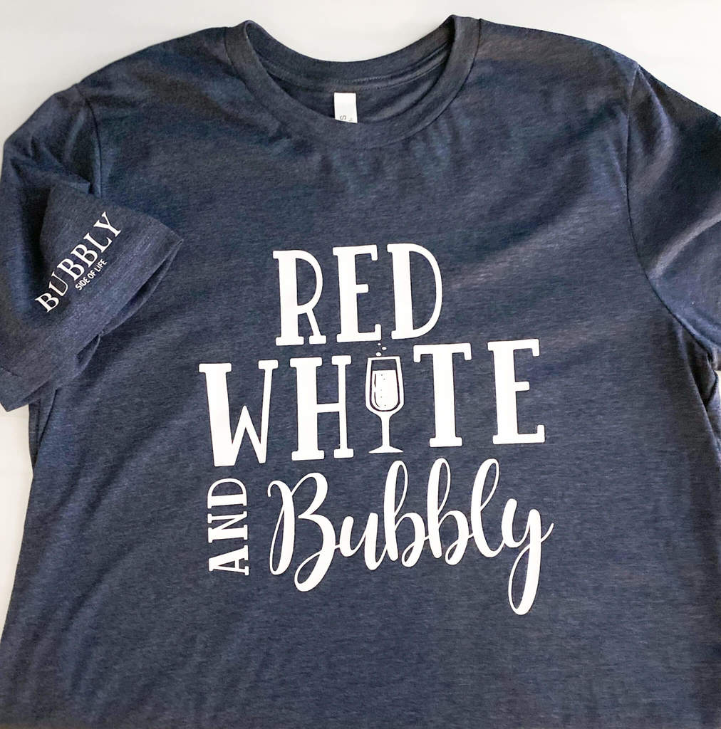 Red, White and Bubbly 4th of July shirts available at www.bubblysideoflife.com/shop