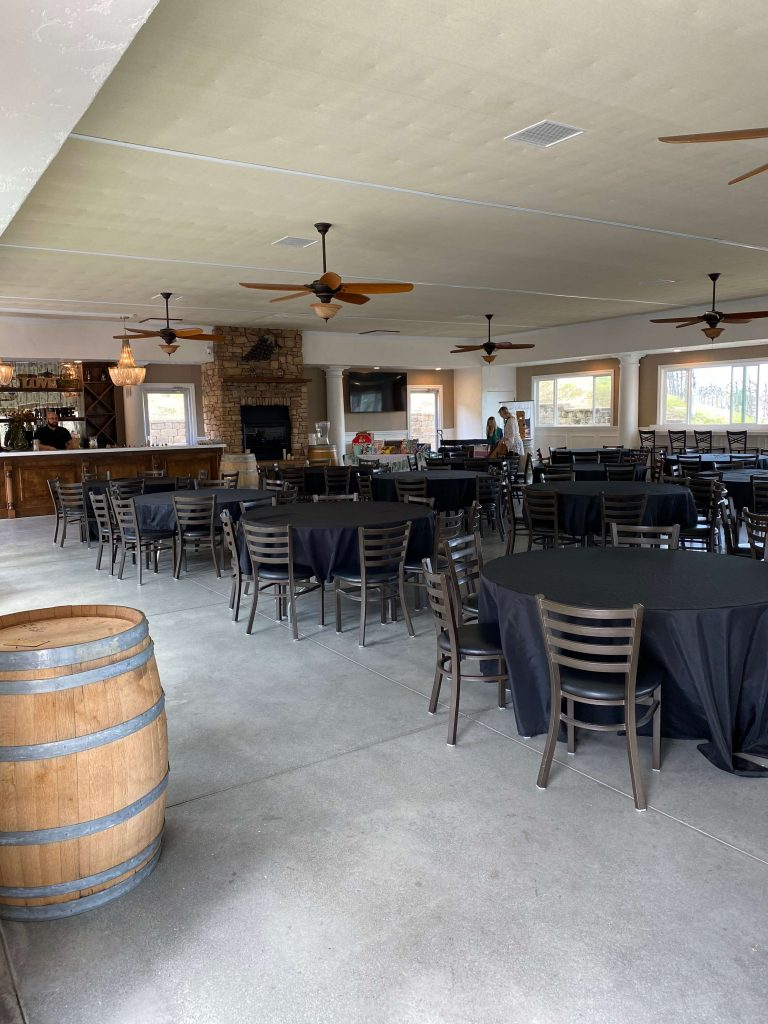 Inside the Oak Mountain Winery Pavilion