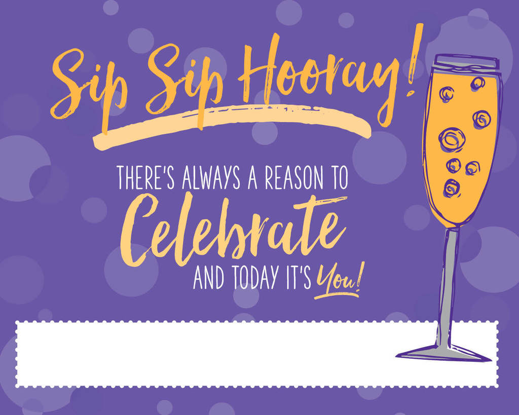 Because there is always a reason to celebrate, Bubbly Side of Life created the perfect label for it.