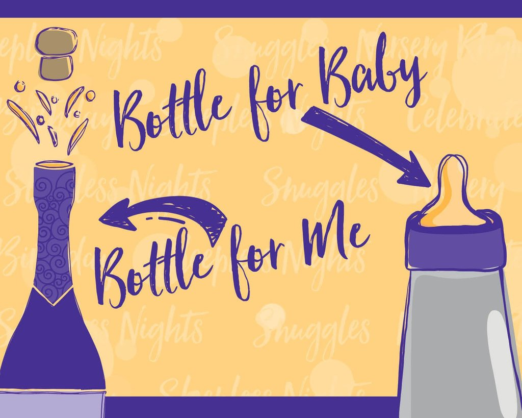 Bubbly Side of Life new mom label for bubbly bottle