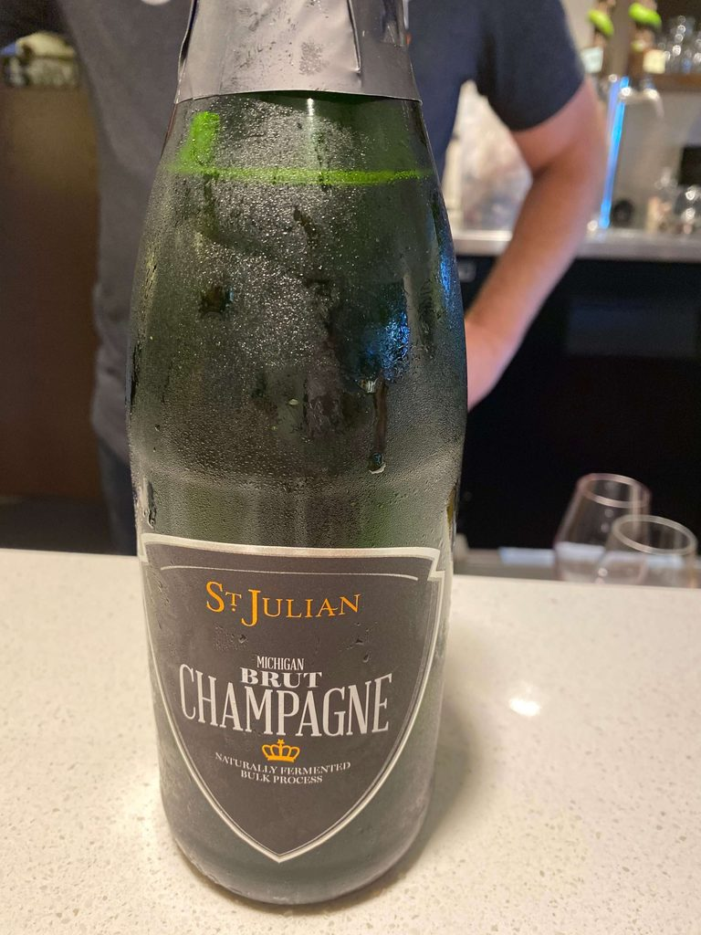 St. Julian champagne an affordable sparkling wine to stock up on!