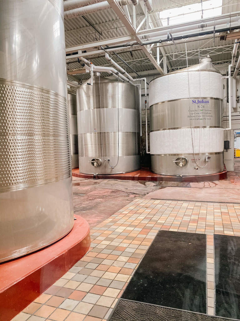 Where all the action happens at St Julian Winery.