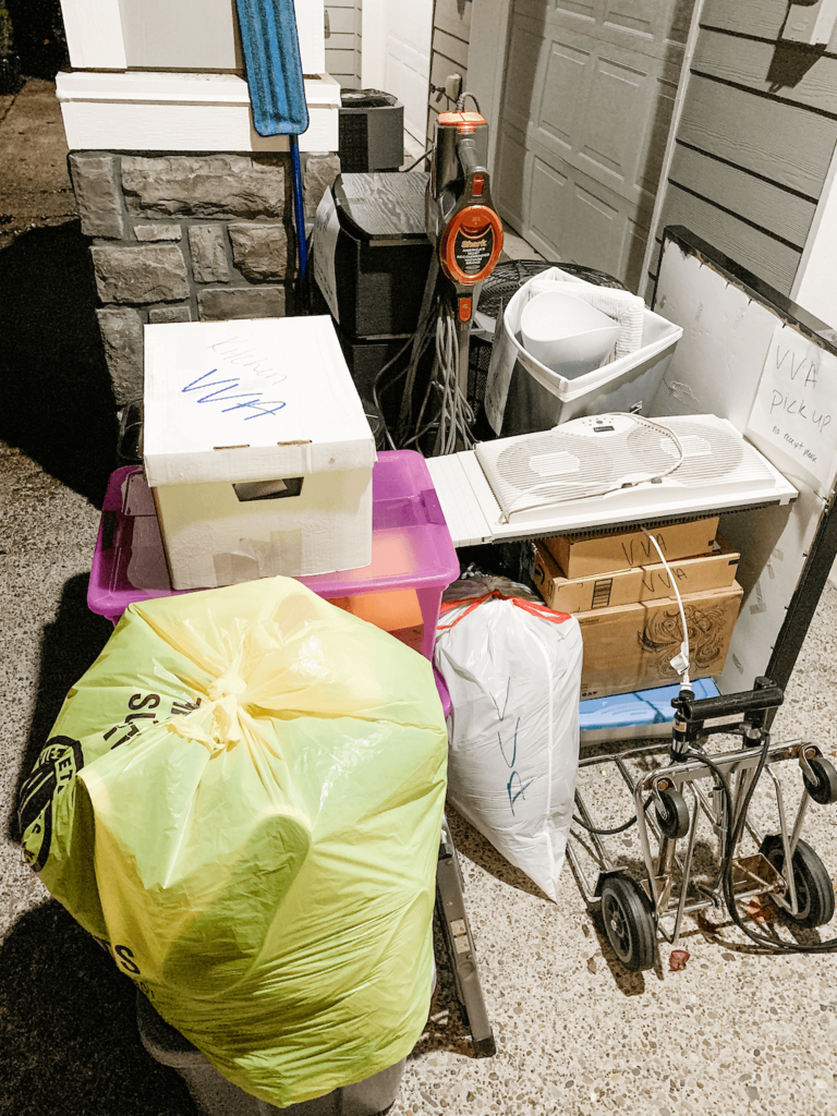 Donating everything in search of my new apartment