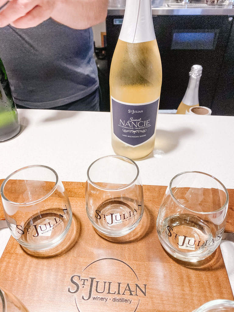 St Julian Sparkling Wine flight