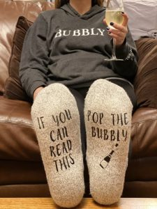 Pop the Bubbly Socks are the best stocking stuffer for any Bubbly lover.