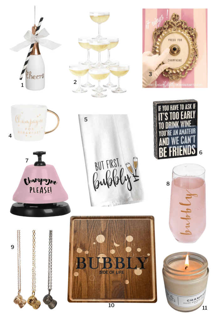 Bubbly Gifts for Champagne Lovers in your life