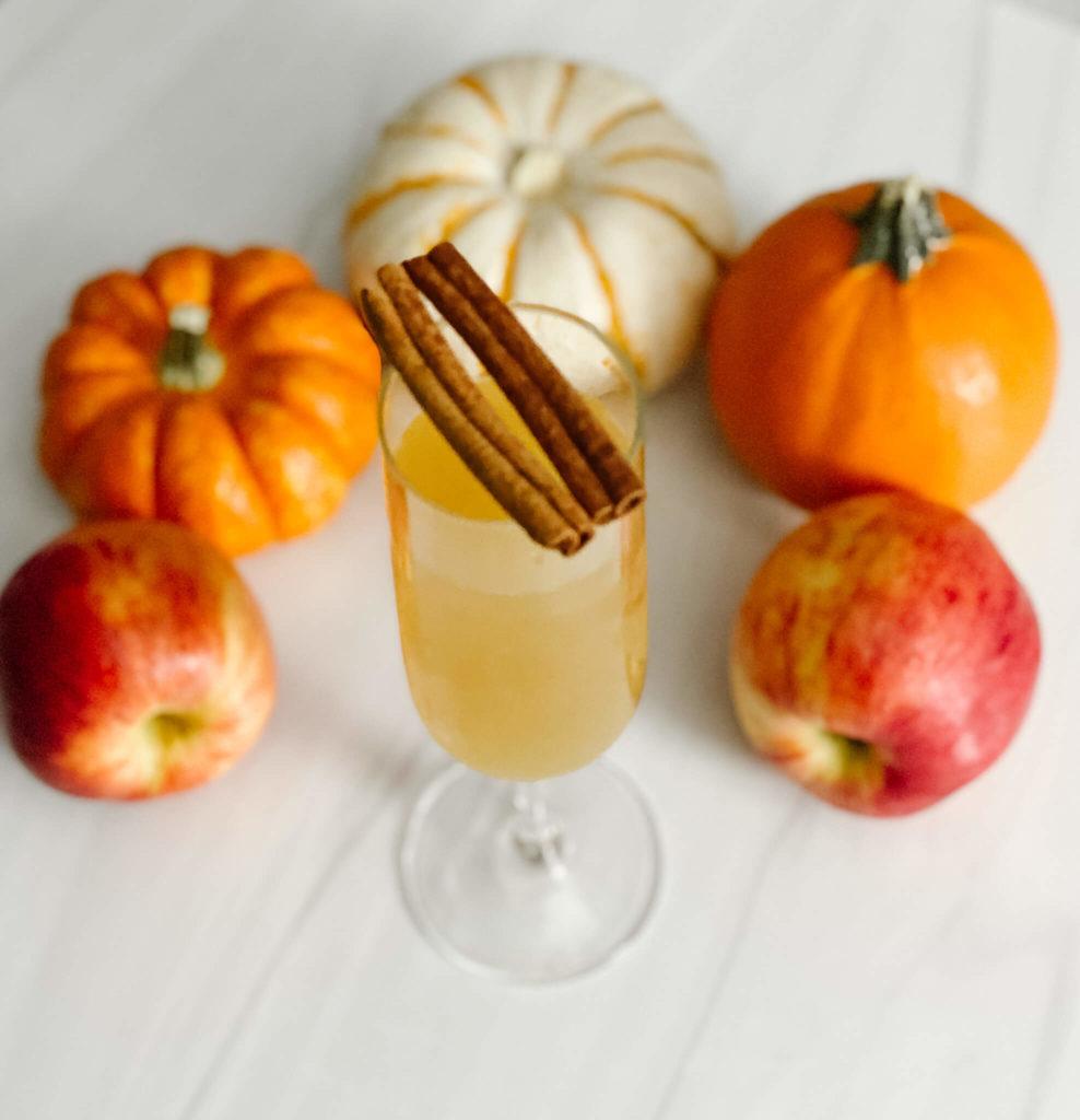 Apple cider mimosa