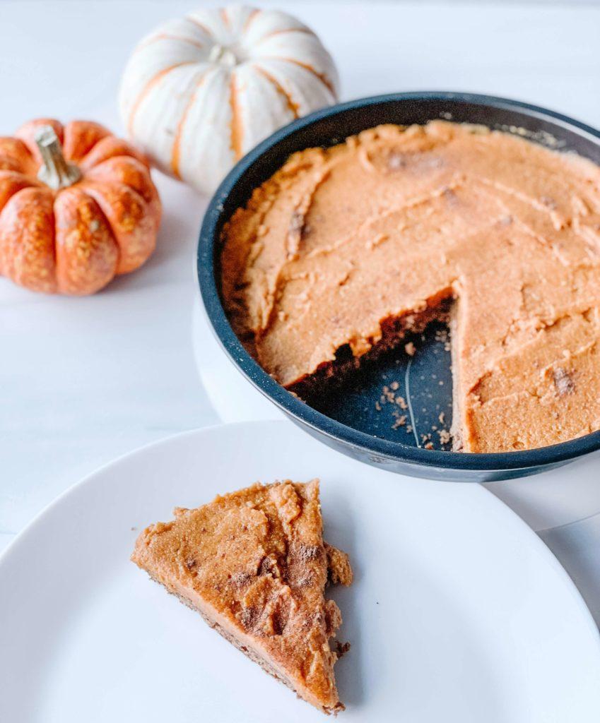 Bubbly pumpkin pie