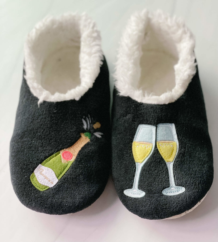 Coziest Bubbly slippers make a great stocking stuffer idea.
