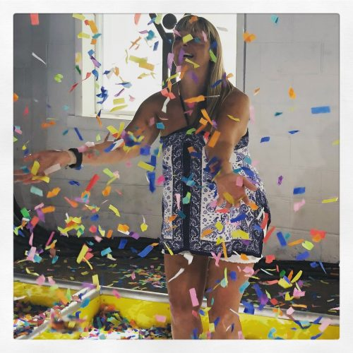 woman with confetti celebrating the everyday