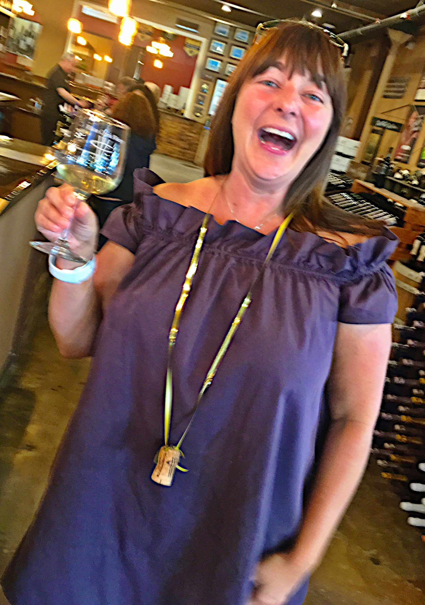 Wilson Creek Winery Champagne Cork Birthday necklace.