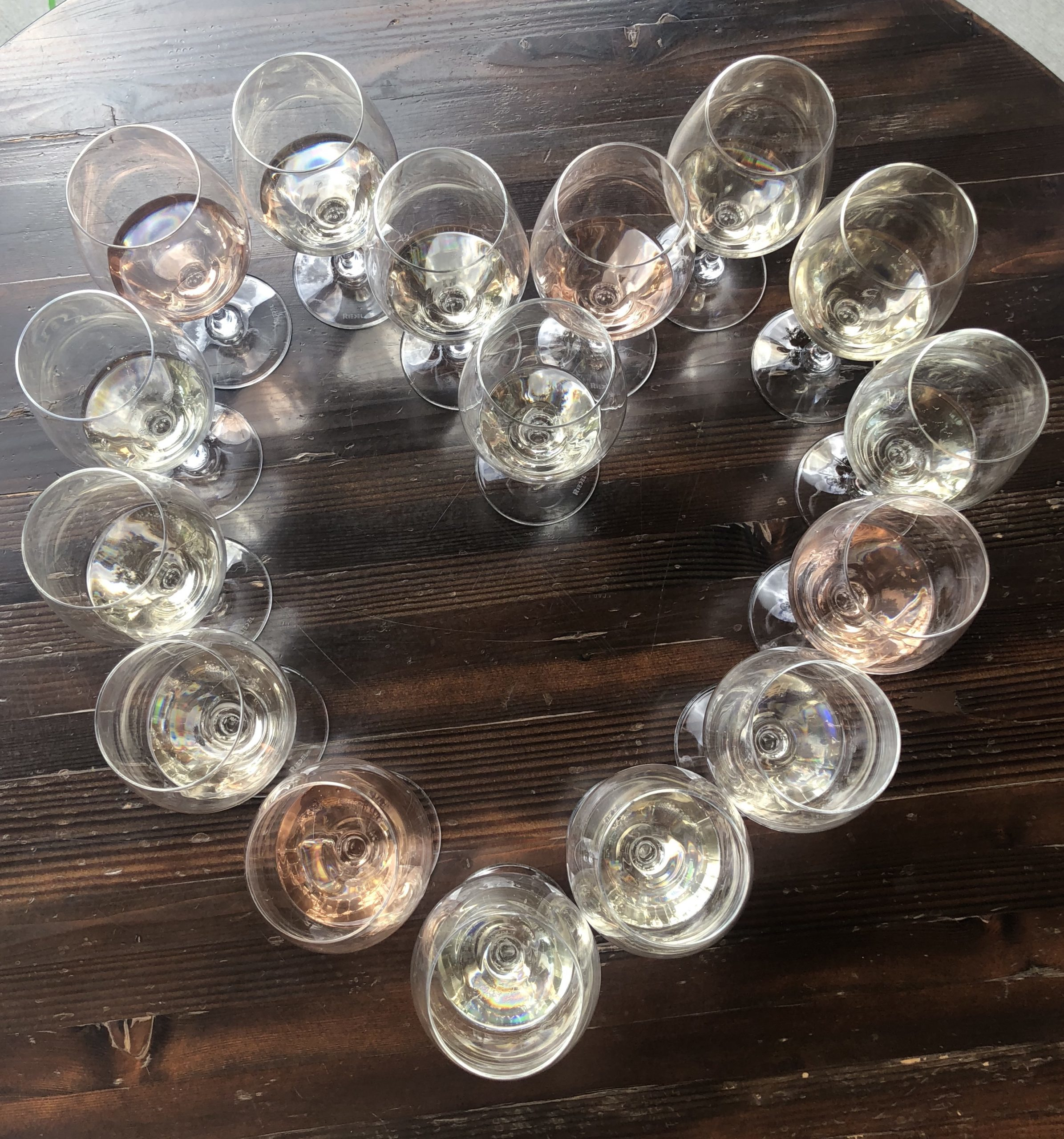 Heart of wine glasses