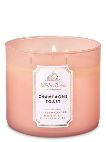 Champagne Toast scented candle to grab a few minutes of celebration during the day