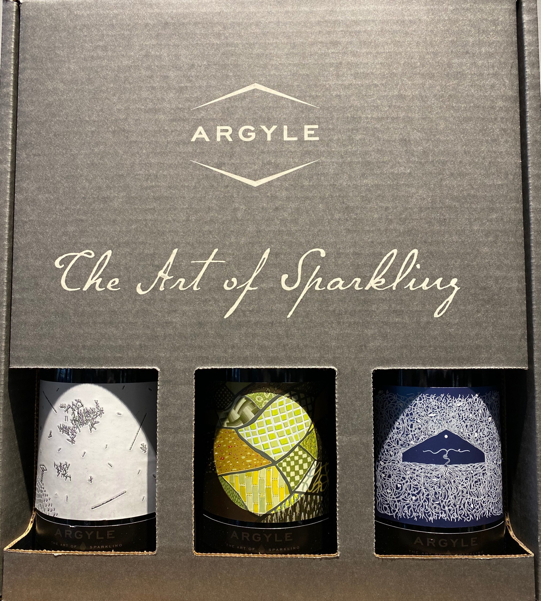 The art of sparkling special edition labels and box