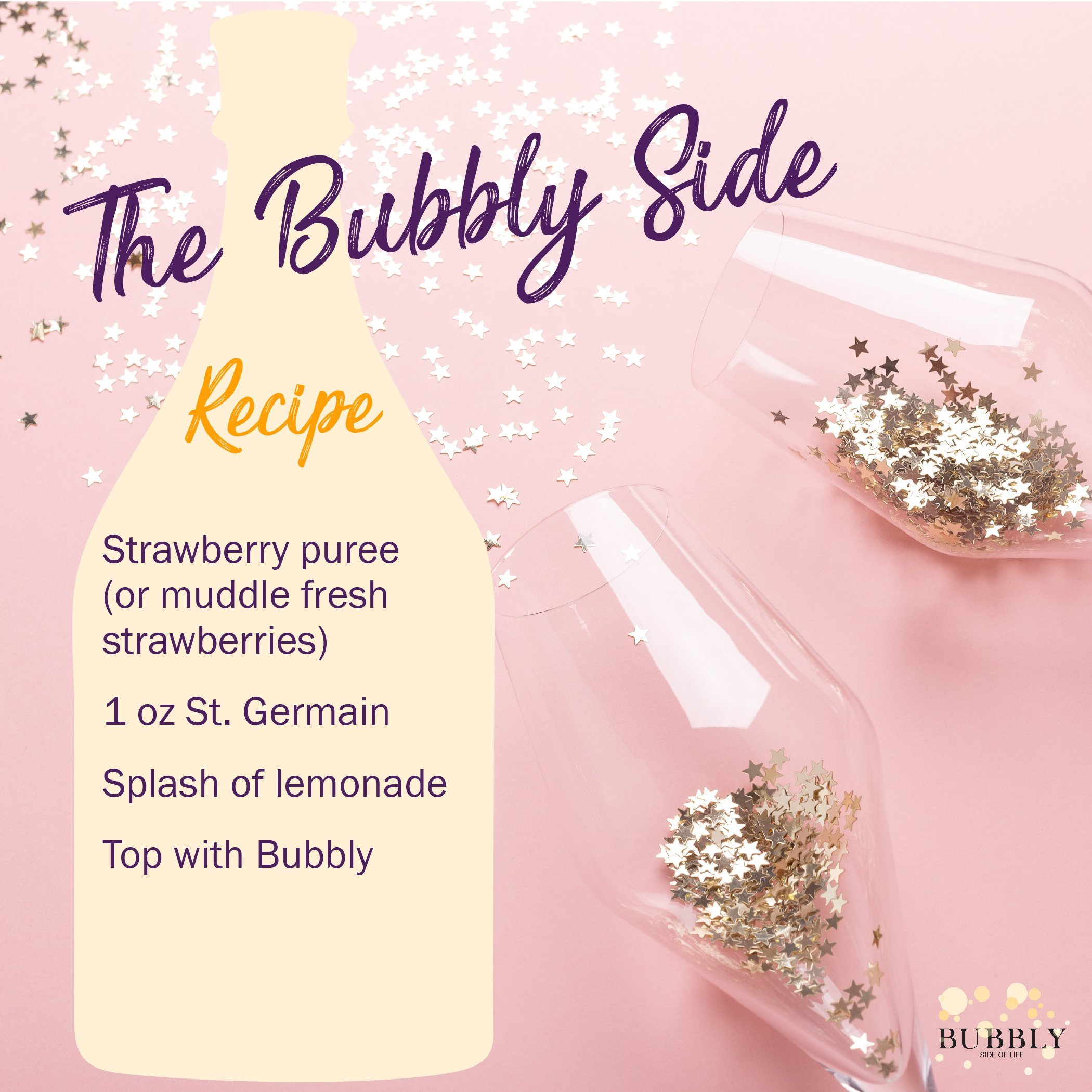 The Bubble side of life recipe card