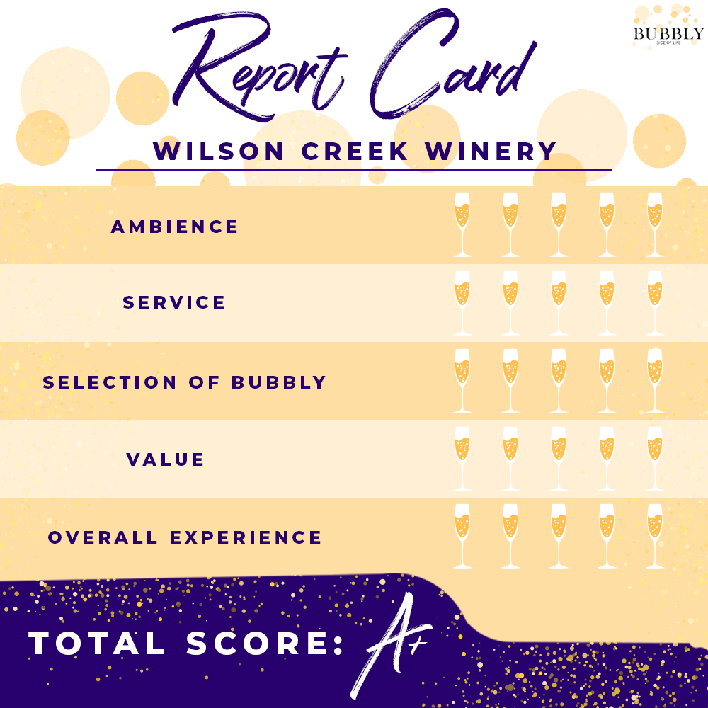 Wilson Creek Winery Report Card A+