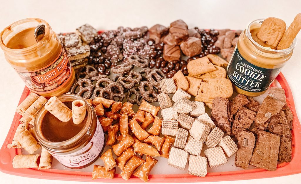 Just like a charcuterie board but for treats.  Inspired by Jenny Cookies.