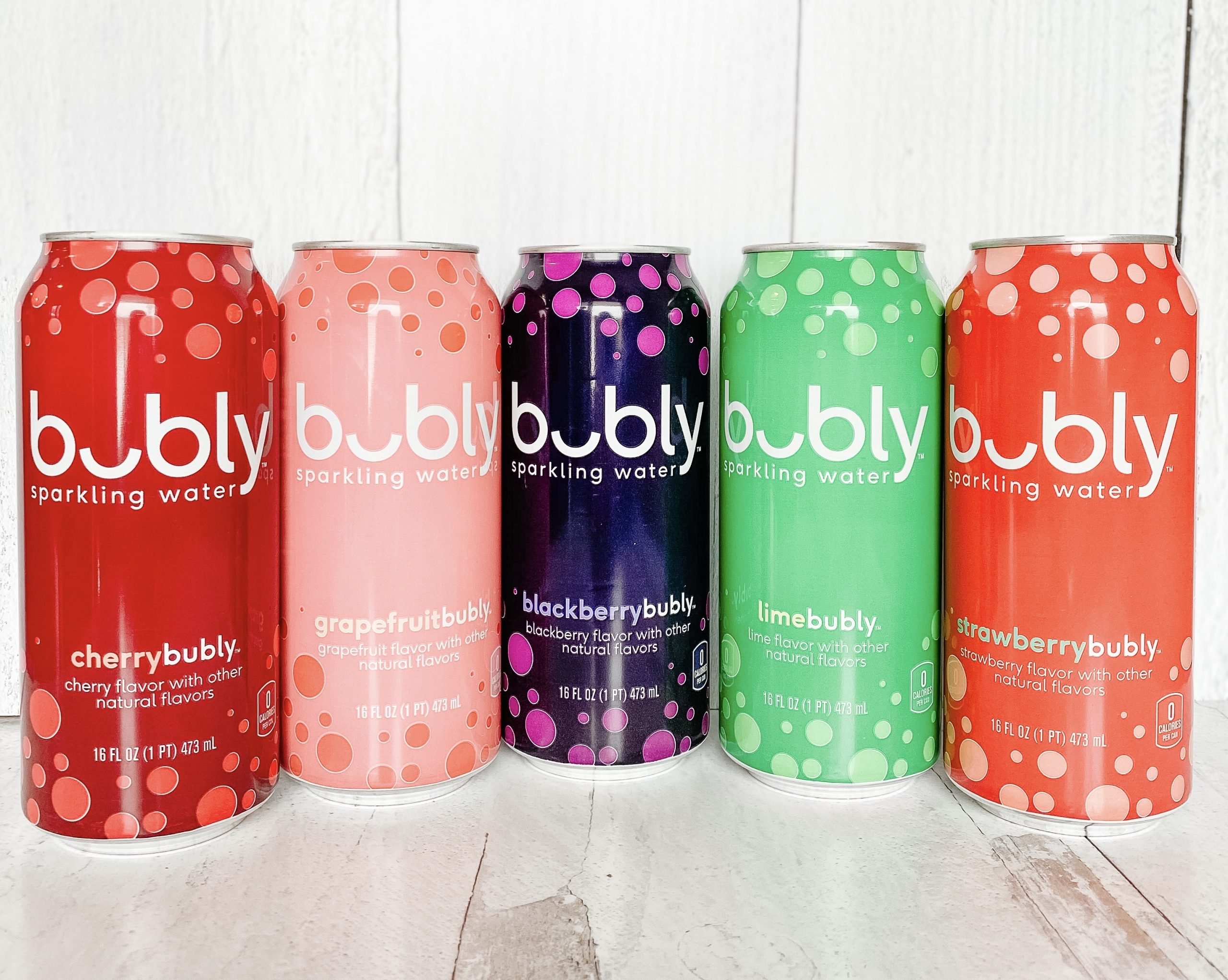 Bubly flavored water for bubbly strawberry recipes
