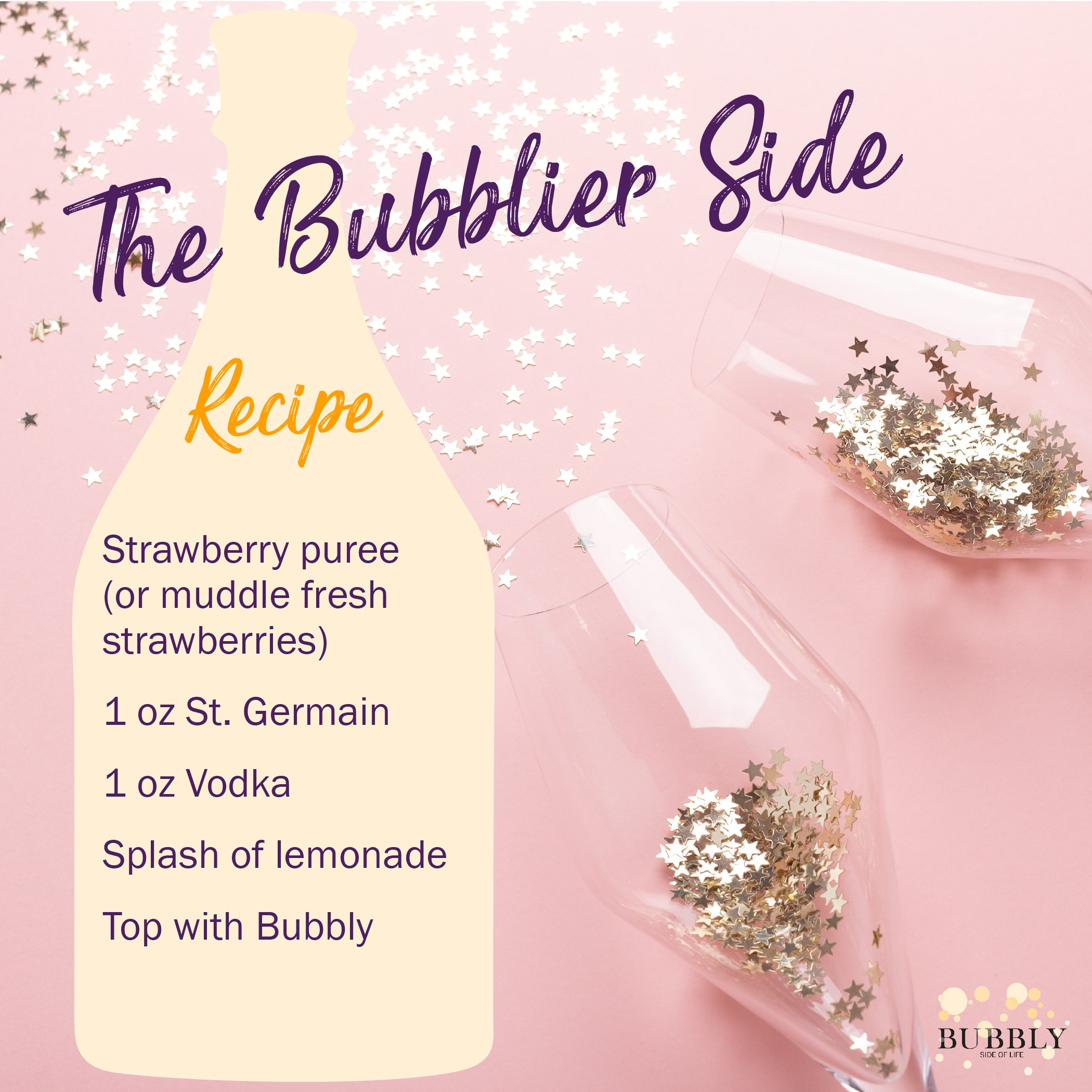 The bubblier Side of Life recipe card