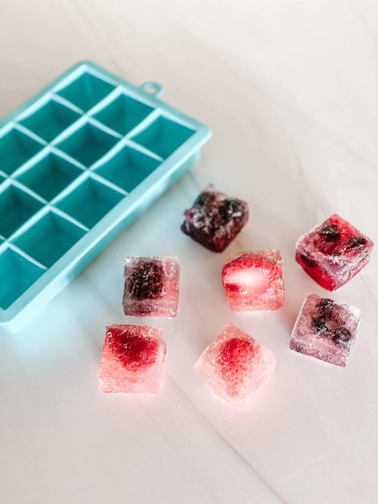 Ice cube strawberry