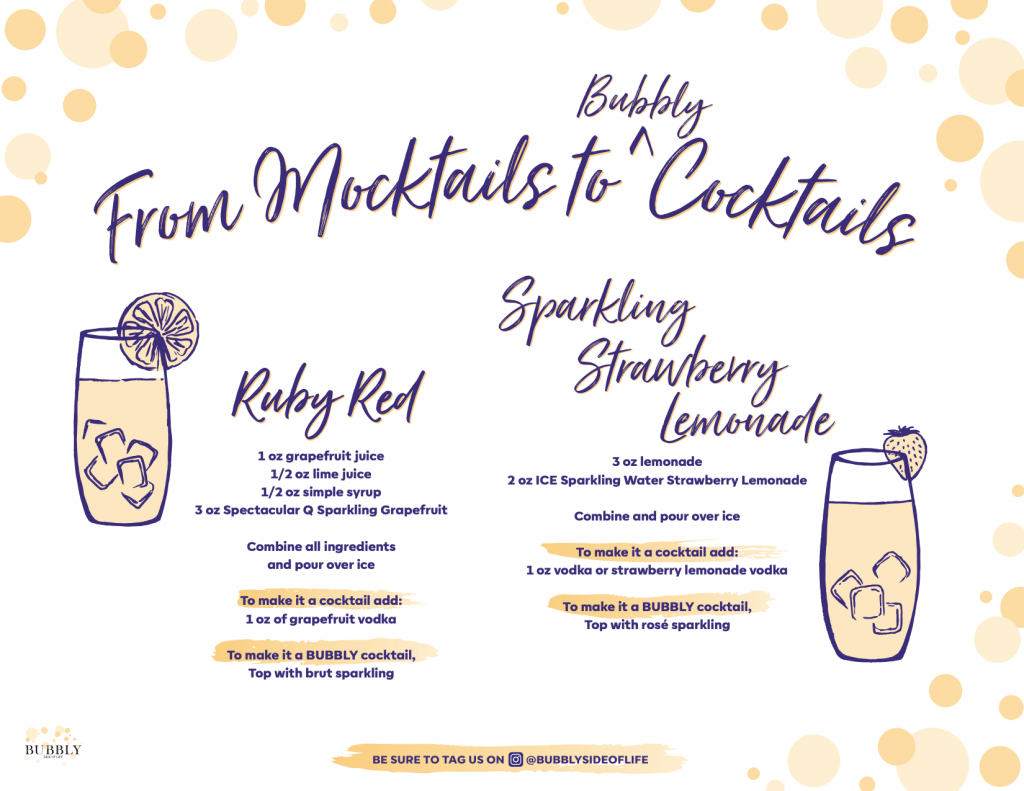 May Holidays mixed drink recipes with an accompanying mocktail