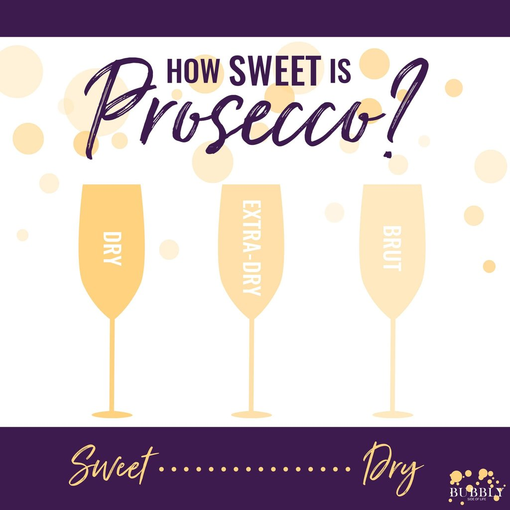 How sweet is prosecco?  The sweetness levels defined.