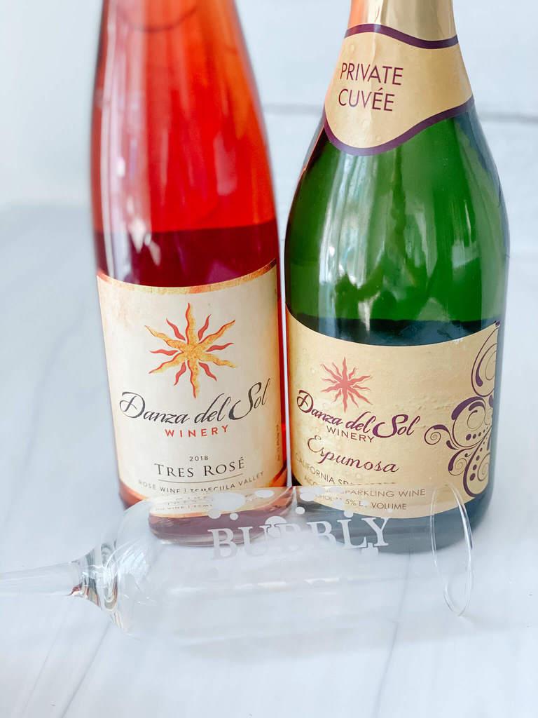 Danza Del Sol Tres Rosé and Espumosa...a new favorite homemade sparkling rosé wine