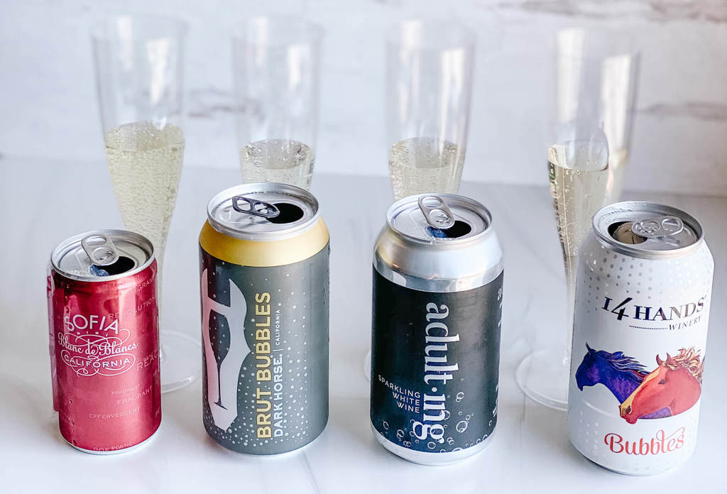 Canned sparkling wine