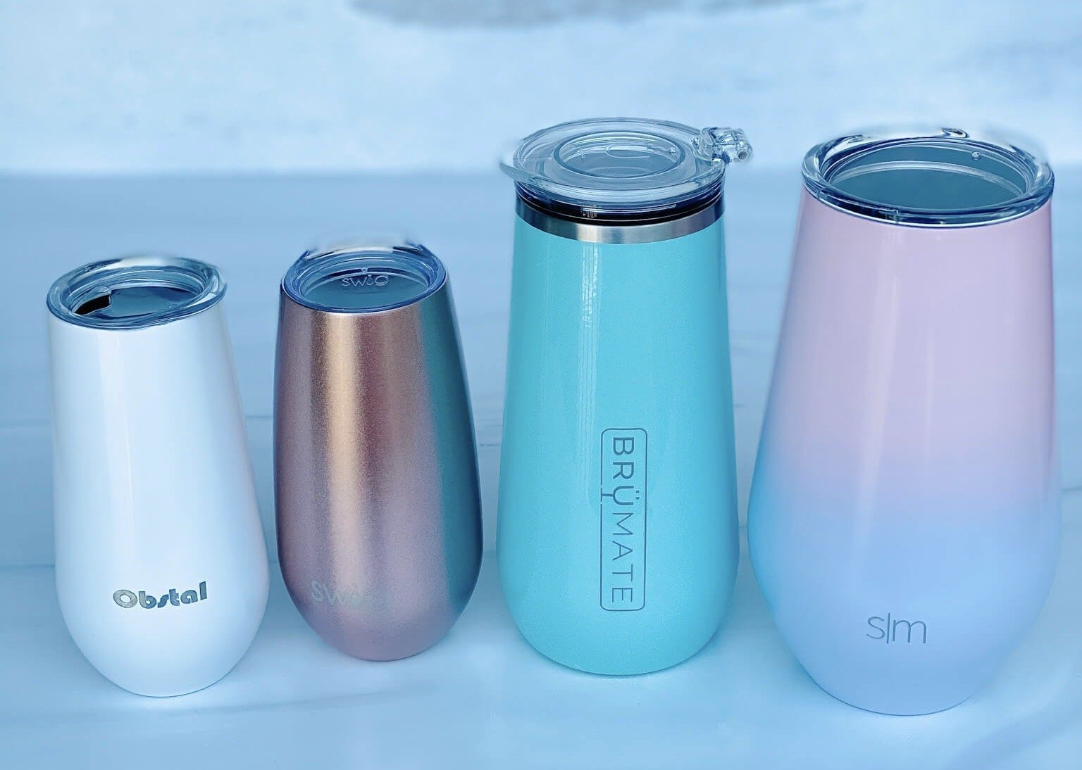 4 Popular Champagne Tumblers-put to the test and the results are in!
