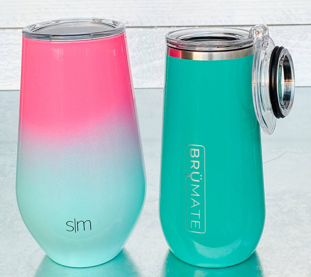 Simpler Modern Champagne Tumbler with Lid vs. BruMate Champagne Tumbler with Lid