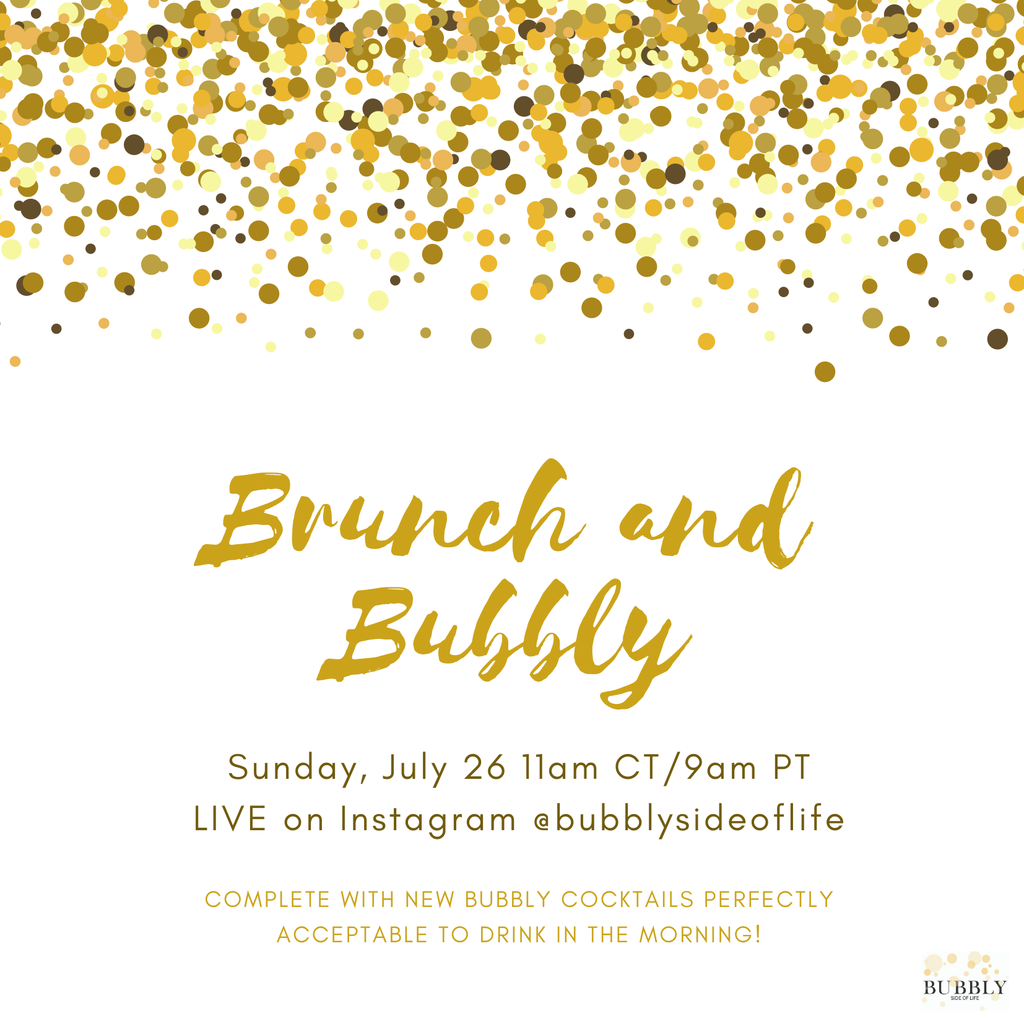 Brunch live on @bubblysideoflife Instagram