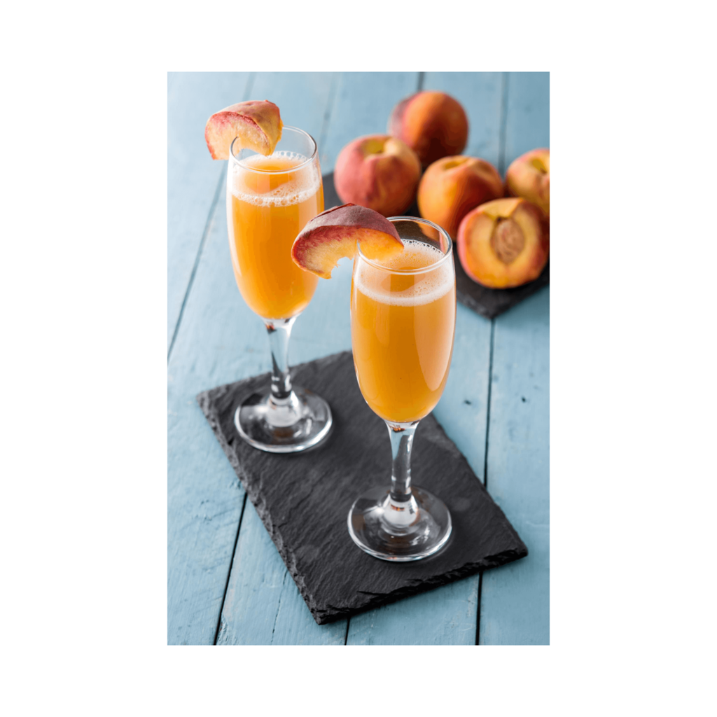 Bellini cocktails