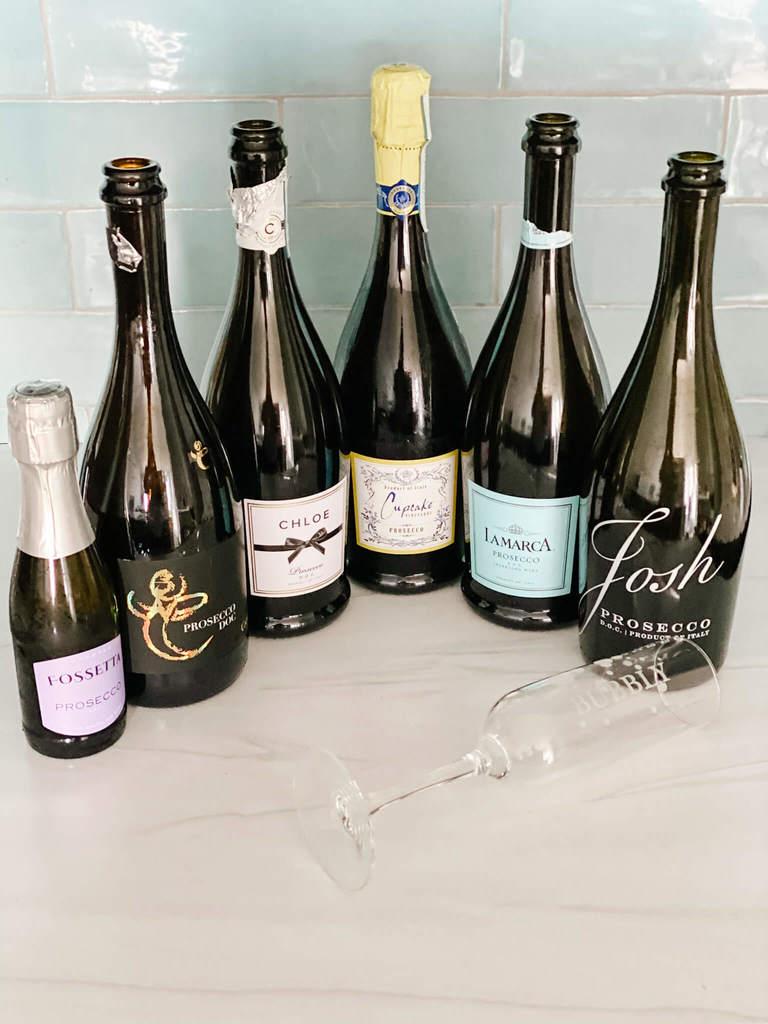 Bubbly wine of Prosecco