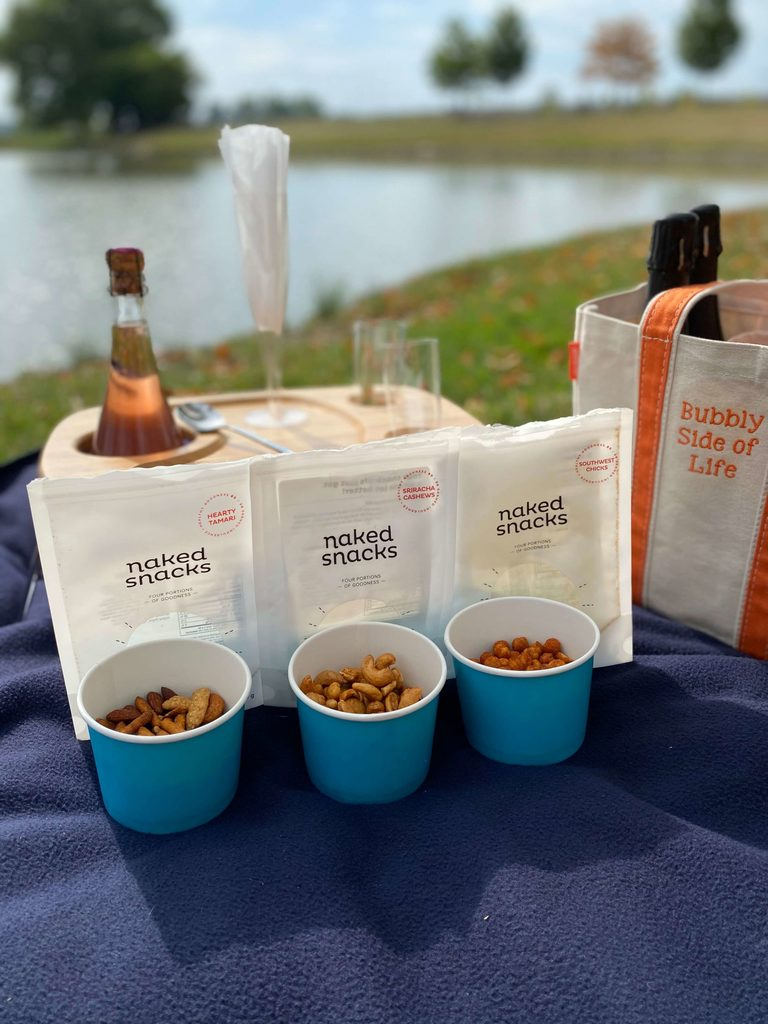 Naked Snacks the perfect pairing for your bubbly picnic