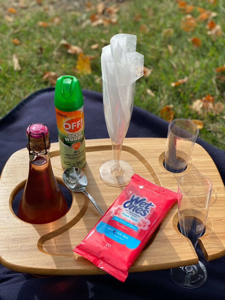 Bubbly picnic essentials with my #1 Tip-Bounce Dryer Sheets