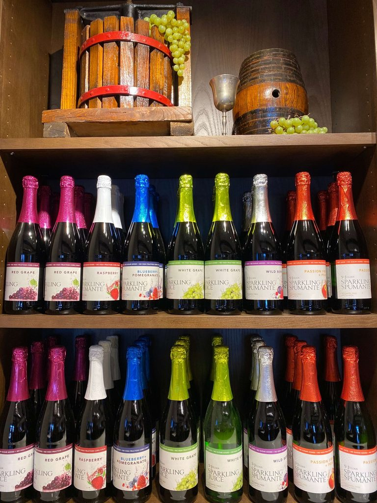 St Julian Winery sparkling juice for kids