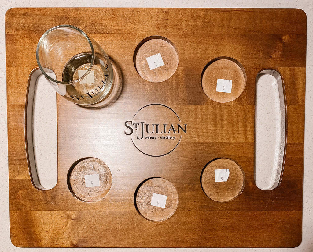 St Julian pre-selected wine flight for wine tasting
