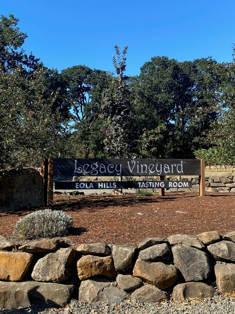 Eola Hills Legacy Vineyard, where you can go wiking...yes you'll have to read to find out just what that is.