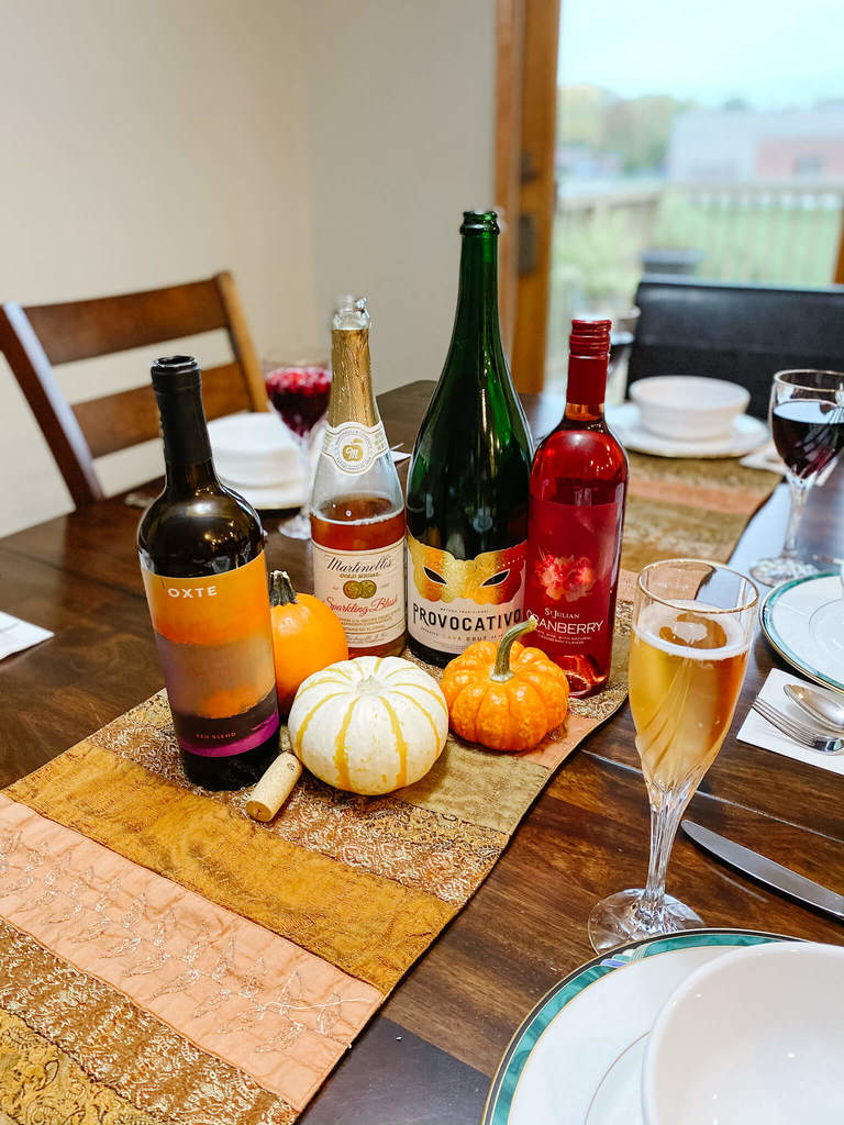Thanksgiving menu complete with drinks for all!